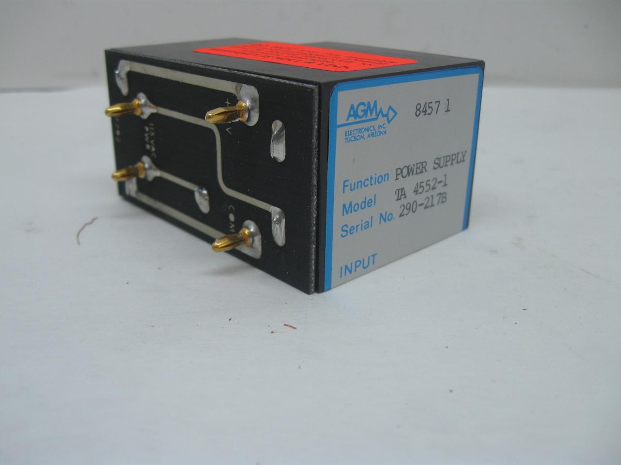 Agm Ta 4552 1 Power Supply 115 Vac Input 24vdc Output
