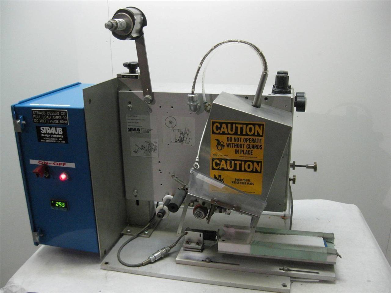Straub Automatic Tape Dispenser Applicator Machine Two Sided Ebay