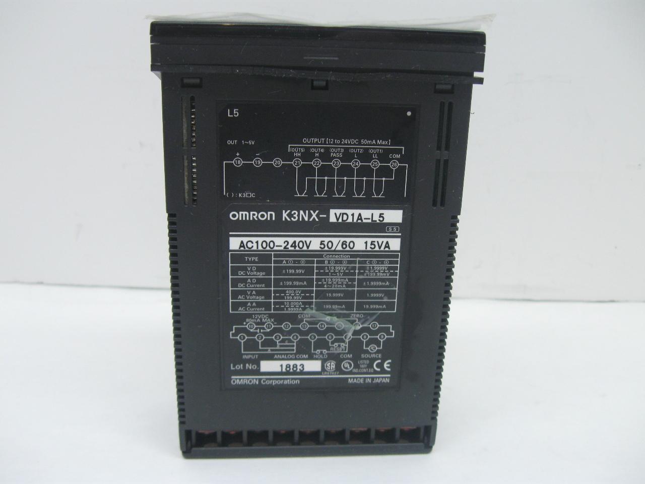 Omron Digital Panel Meter : Omron k nx vd a l digital panel meter ebay