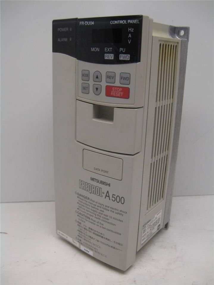 Inverters For Sale >> Mitsubishi FR-A520-0.4K Freqrol-A500 Inverter 0.4 Kw 200 ...