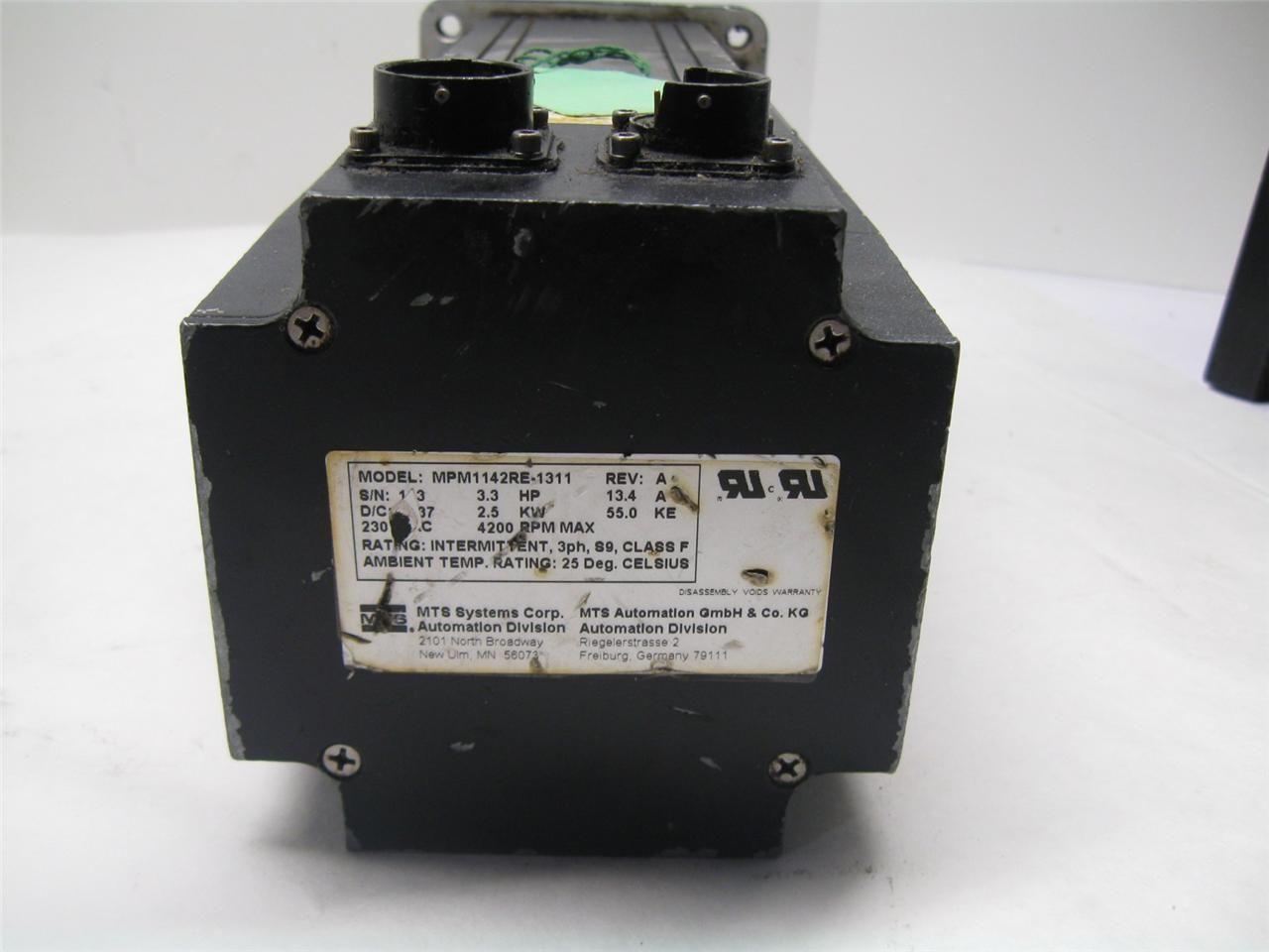 Servo Motor System : Mts systems mpm re servo motor ebay