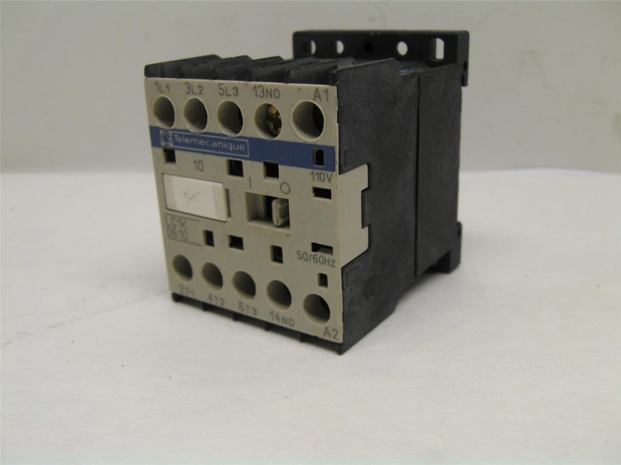 Telemecanique Lc1k0610 Motor Starter Contactor 110 Vac
