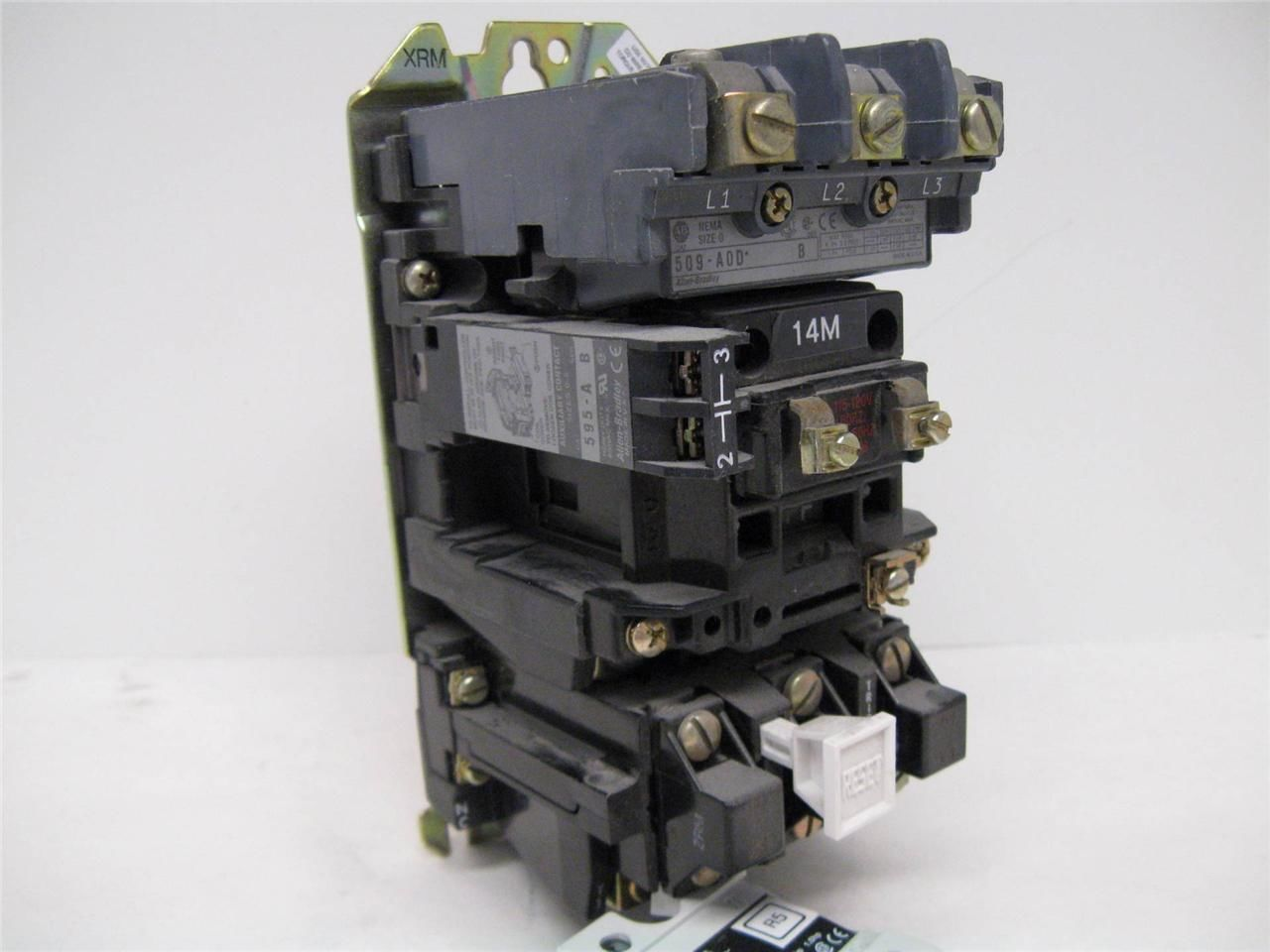 Allen bradley 509 a0d size 0 motor starter 120 vac coil for Allen bradley motor overload