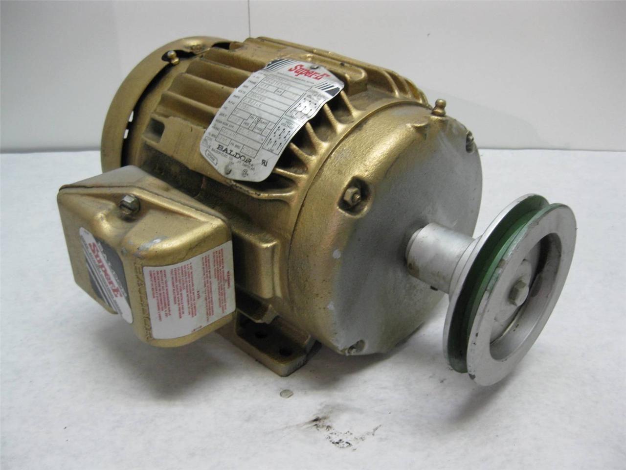 Baldor Em3581t Super E 1hp Electric Motor 230 460 Vac 3
