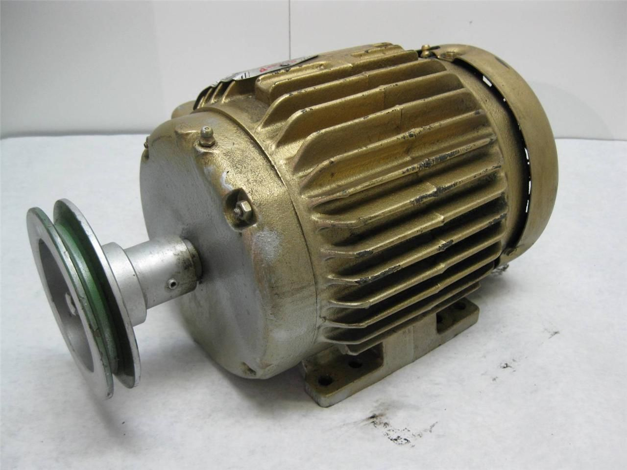 Baldor Em3581t Super E 1hp Electric Motor 230 460 Vac 3 Phase 1750 Rpm 143t Ebay
