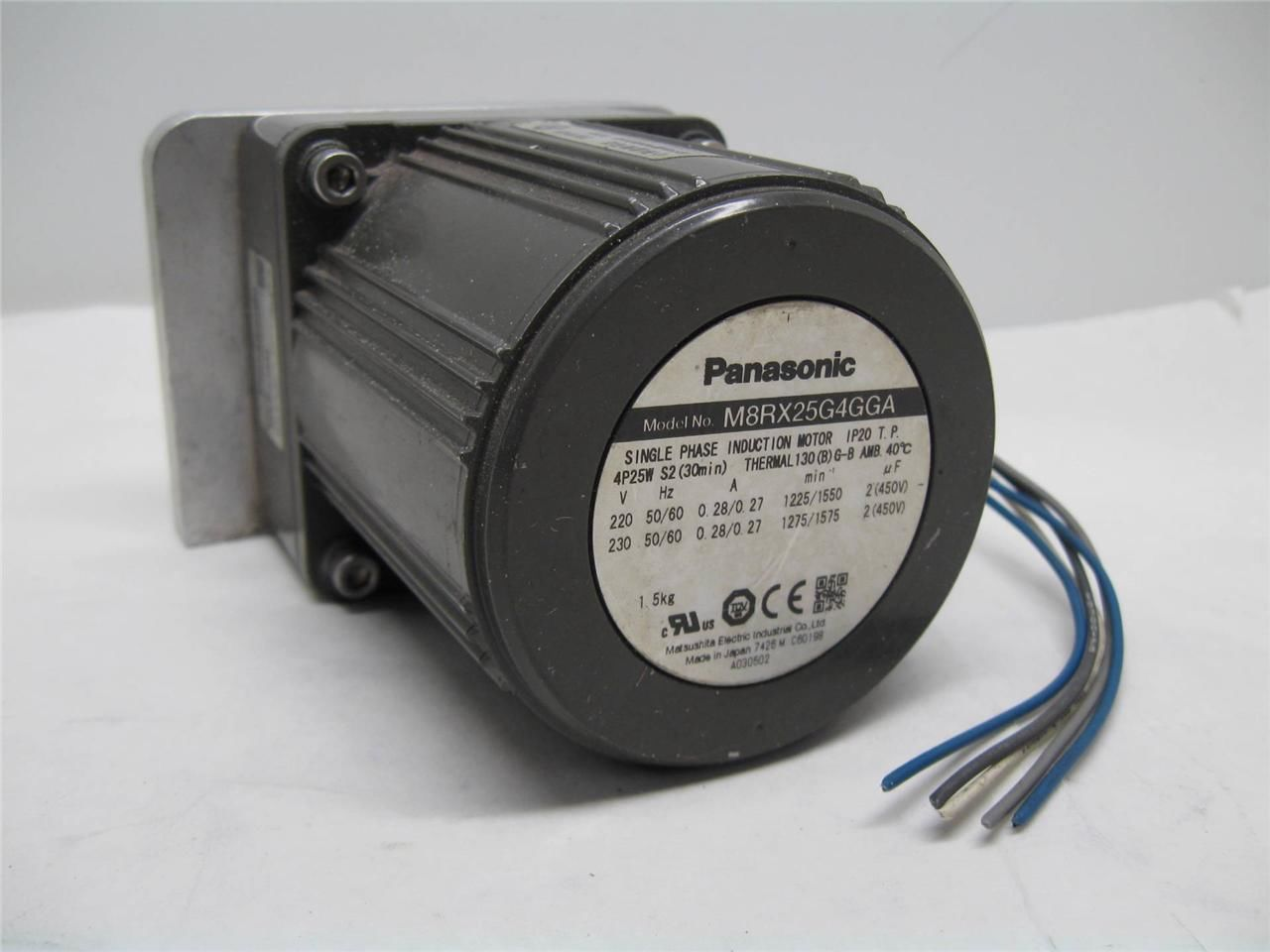 Panasonic M8rx25g4gga Reversible Induction Motor 25w 4