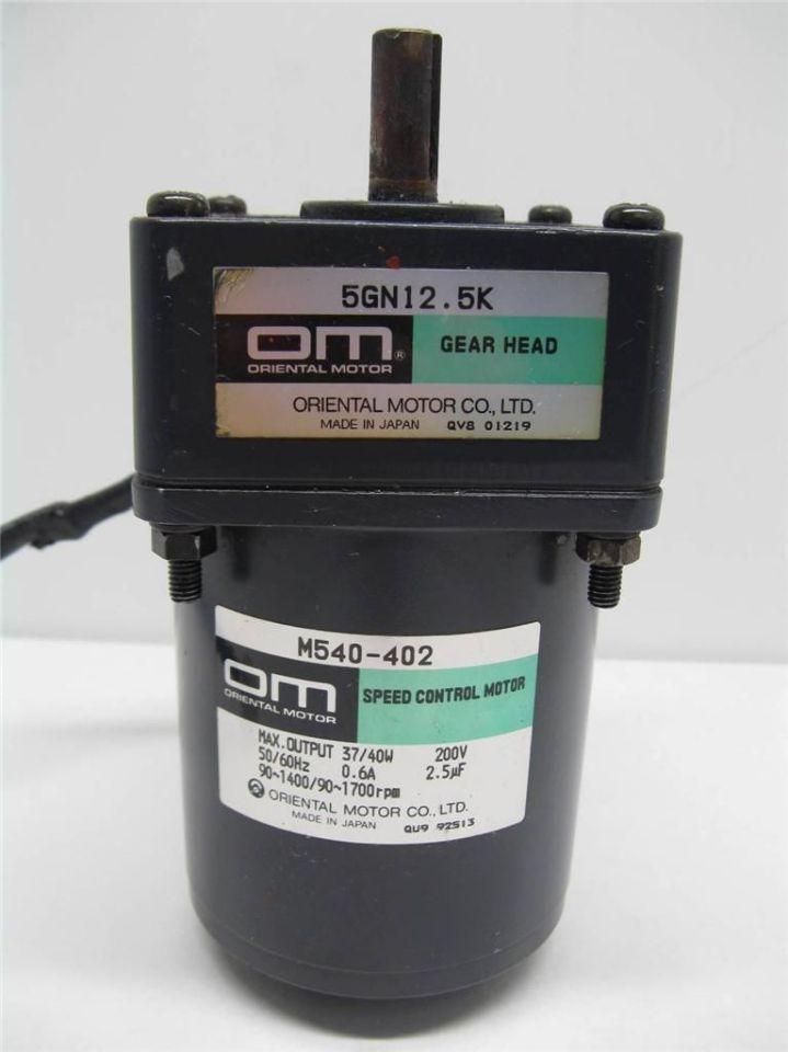 oriental motor m540 402 speed control motor w 5gn12 5k