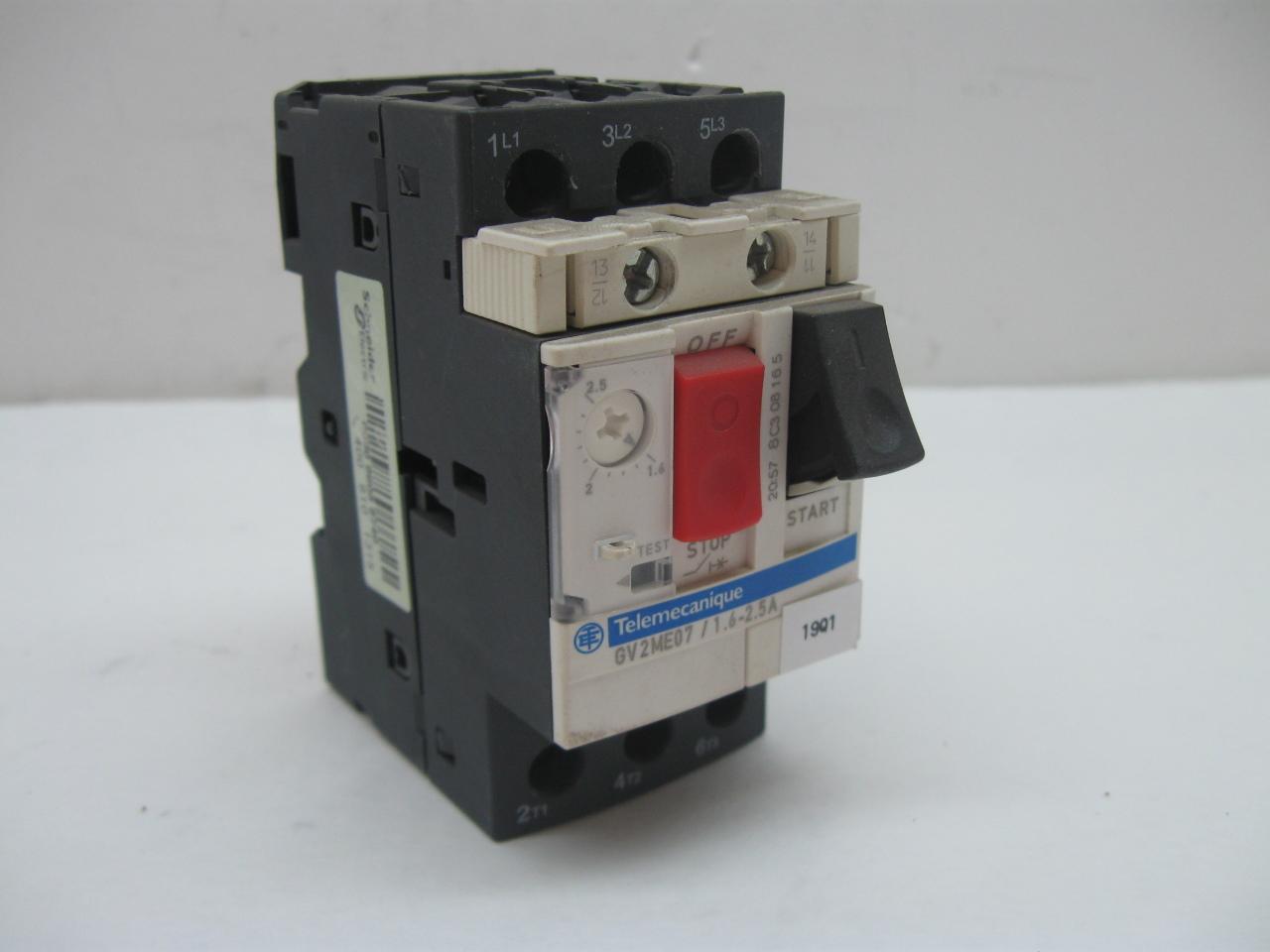 Telemecanique Gv2me07 Manual Motor Starter Adjustable