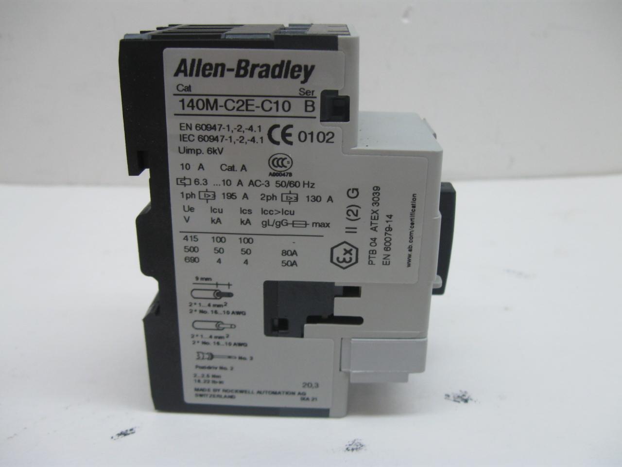 Allen bradley 140m c2e b16 series b manual motor starter 1 for Allen bradley manual motor starter