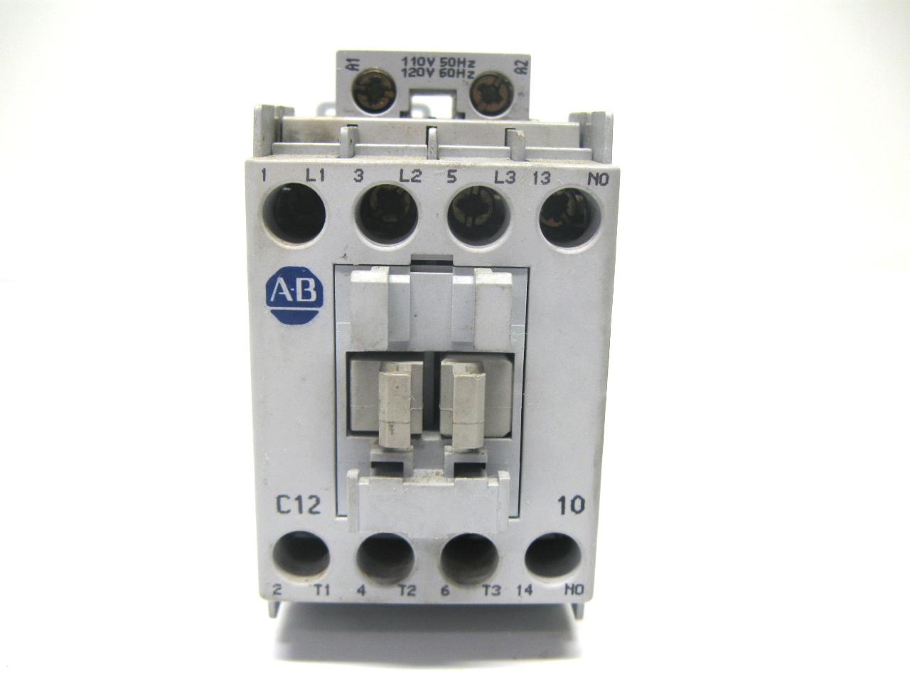 Allen Bradley 100 C12 10 Contactor Motor Starter 110 120