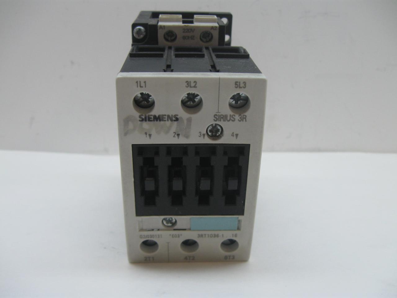 Siemens 3rt1036 1an16 contactor motor starter ebay for Siemens motor starter catalog pdf