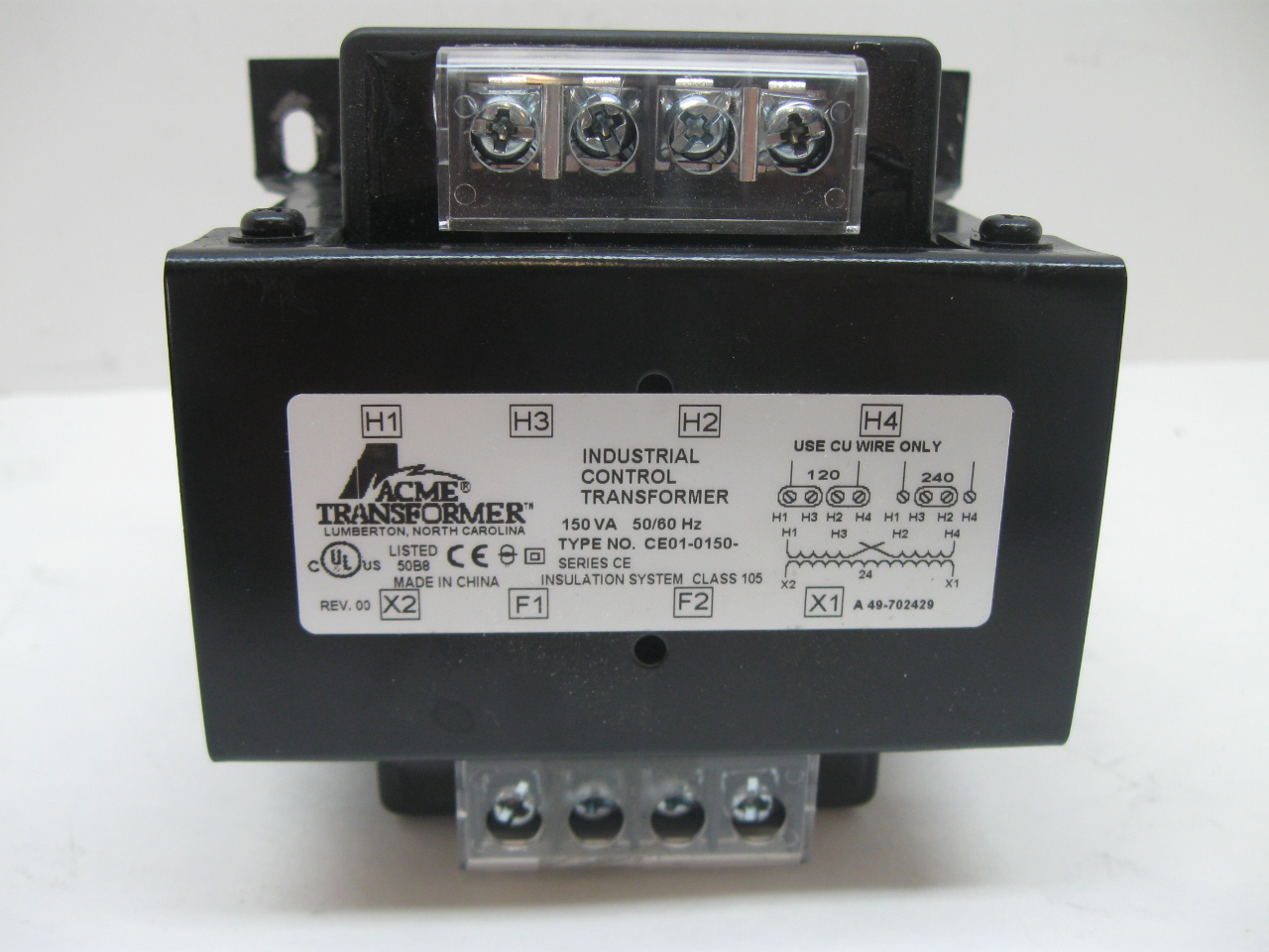 Acme Ce01 0150 Industrial Control Transformer