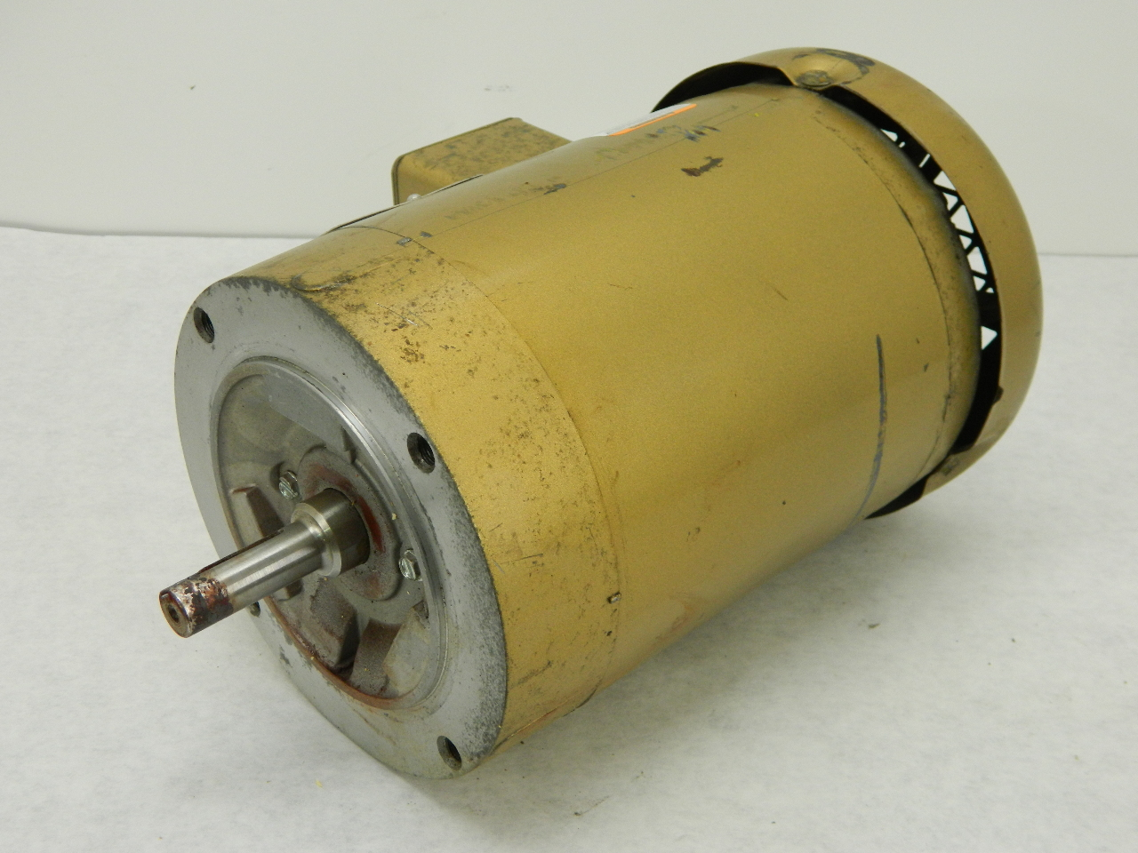 Baldor super e 0 5hp electric motor 230 460 vac 3 phase for Baldor industrial motor parts