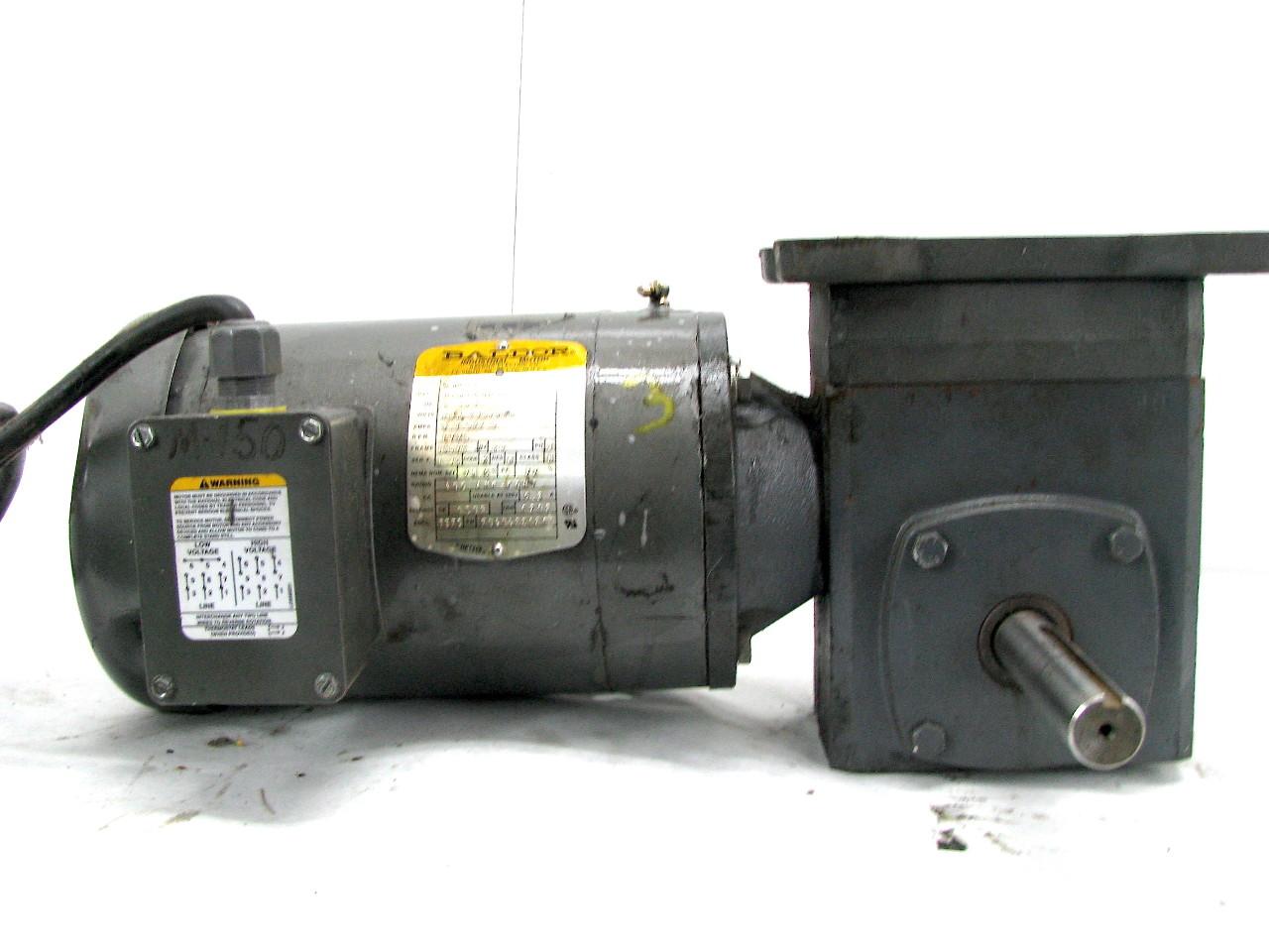 Baldor Vm3554t 1 5hp Motor W F 921 05 B7 J 5 1 Gear