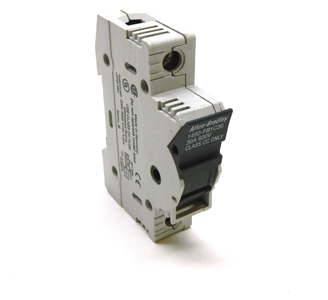 Allen Bradley 1492-FB1C30 Fuse Holder Blown Fuse 600V 30A