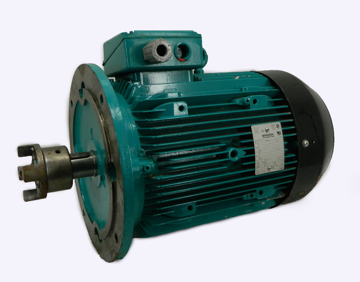 Brook Crompton 10hp Electric Motor 1740 Rpm 480vac 3 Ph