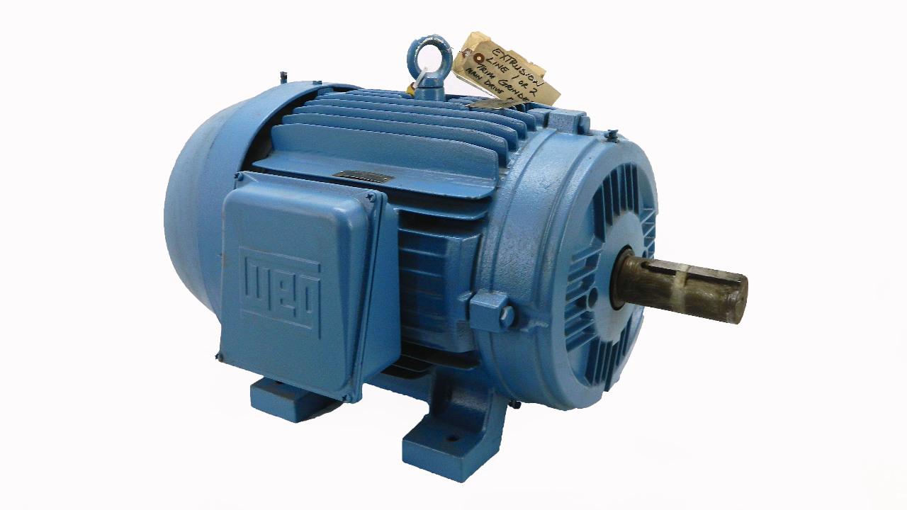 weg 40hp severe duty motor 1770 rpm tefc 208 460vac 324t