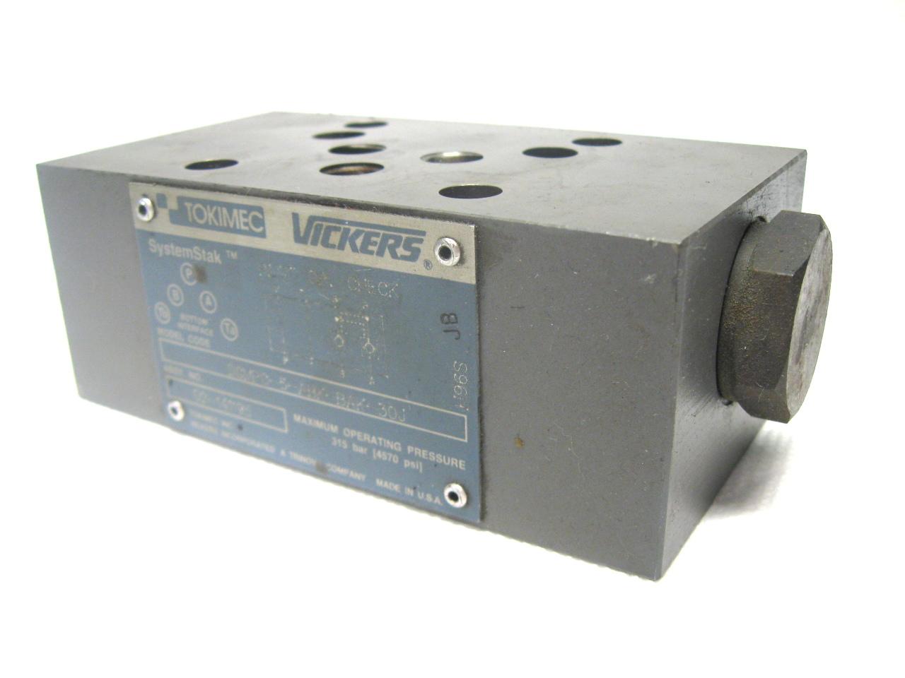 Tokimec Vickers DGMPC-5-ABK-BAK-30J Reversible Hydraulic Check Valve 4570 PSI