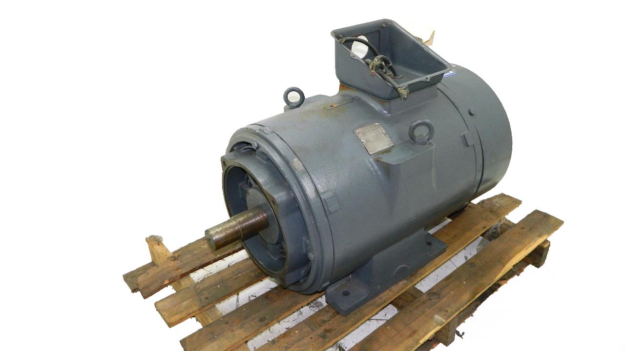 Fuji electric 100 hp motor 225m frame 1170 rpm 460vac 3 for Who rebuilds electric motors