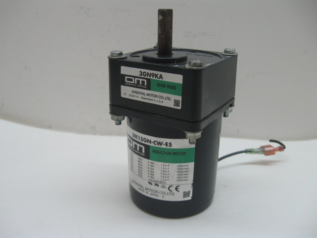 Oriental Motor 3ik15gn Cw E5 Induction Motor With 3gn9ka
