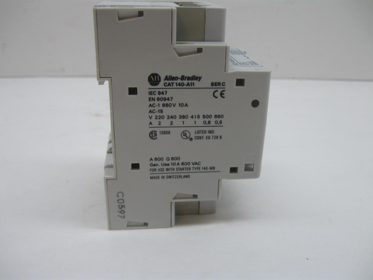 Allen Bradley 140 Mn 0160 Manual Motor Starter 1 1 6 Amp 3