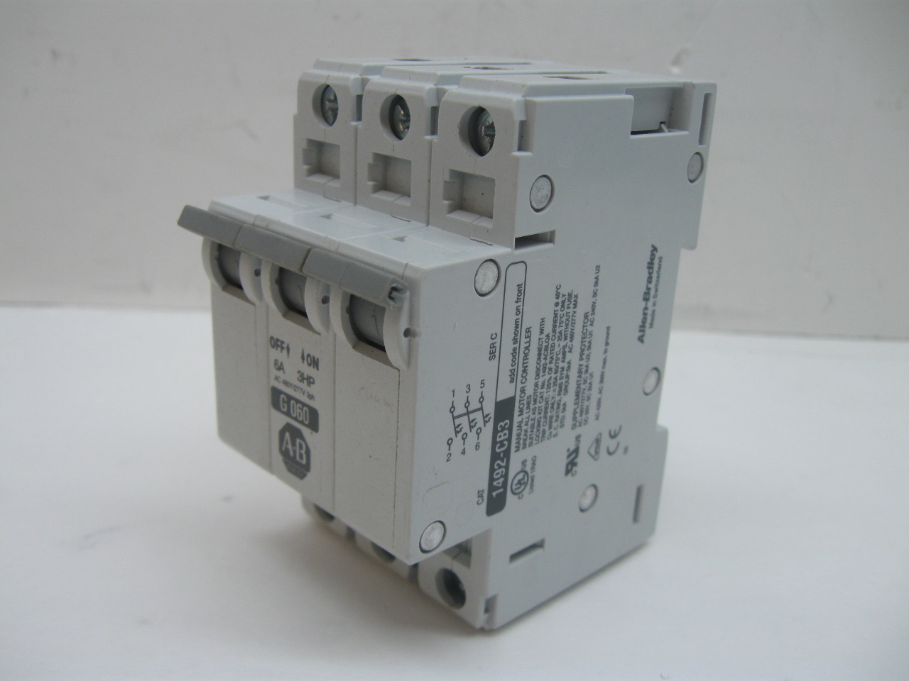 6 Amp Circuit Breaker Best Secret Wiring Diagram Breakers Stud Mount Auto Reset Automotive Allen Bradley 1492 Cb3g060 3 Pole 12v