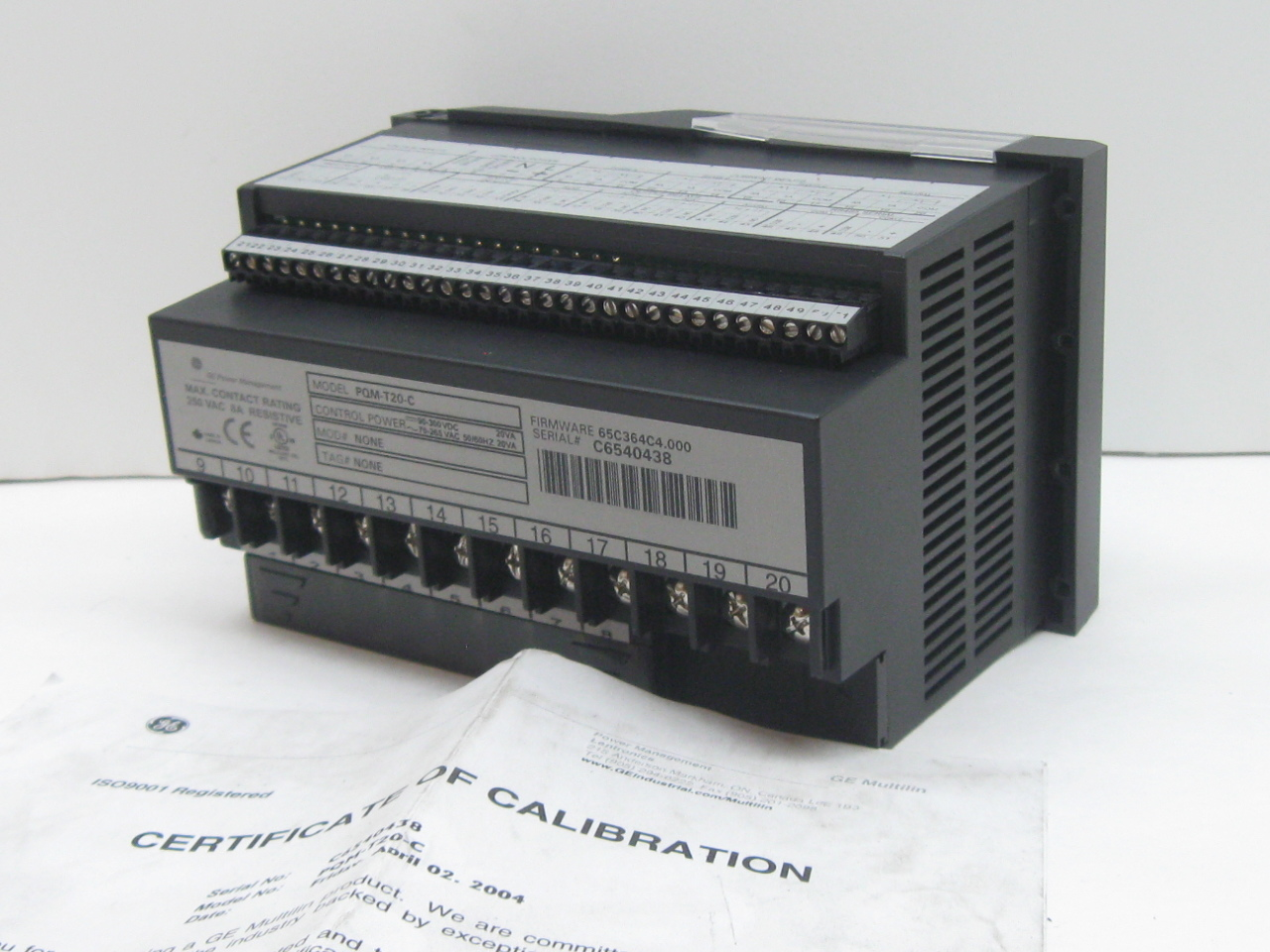 Power Quality Meter : Ge multilin pqm t c power quality meter firmware