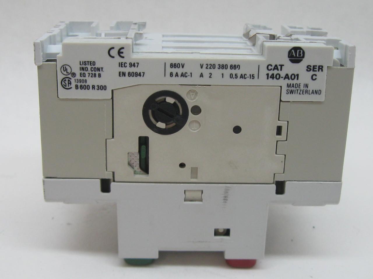 Allen Bradley 140 Mn 1000 Manual Motor Starter 6 3 10 0 Amps