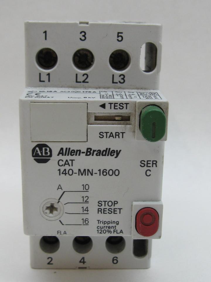 Allen Bradley 140 Mn 1600 Manual Motor Starter 10 0 16 0