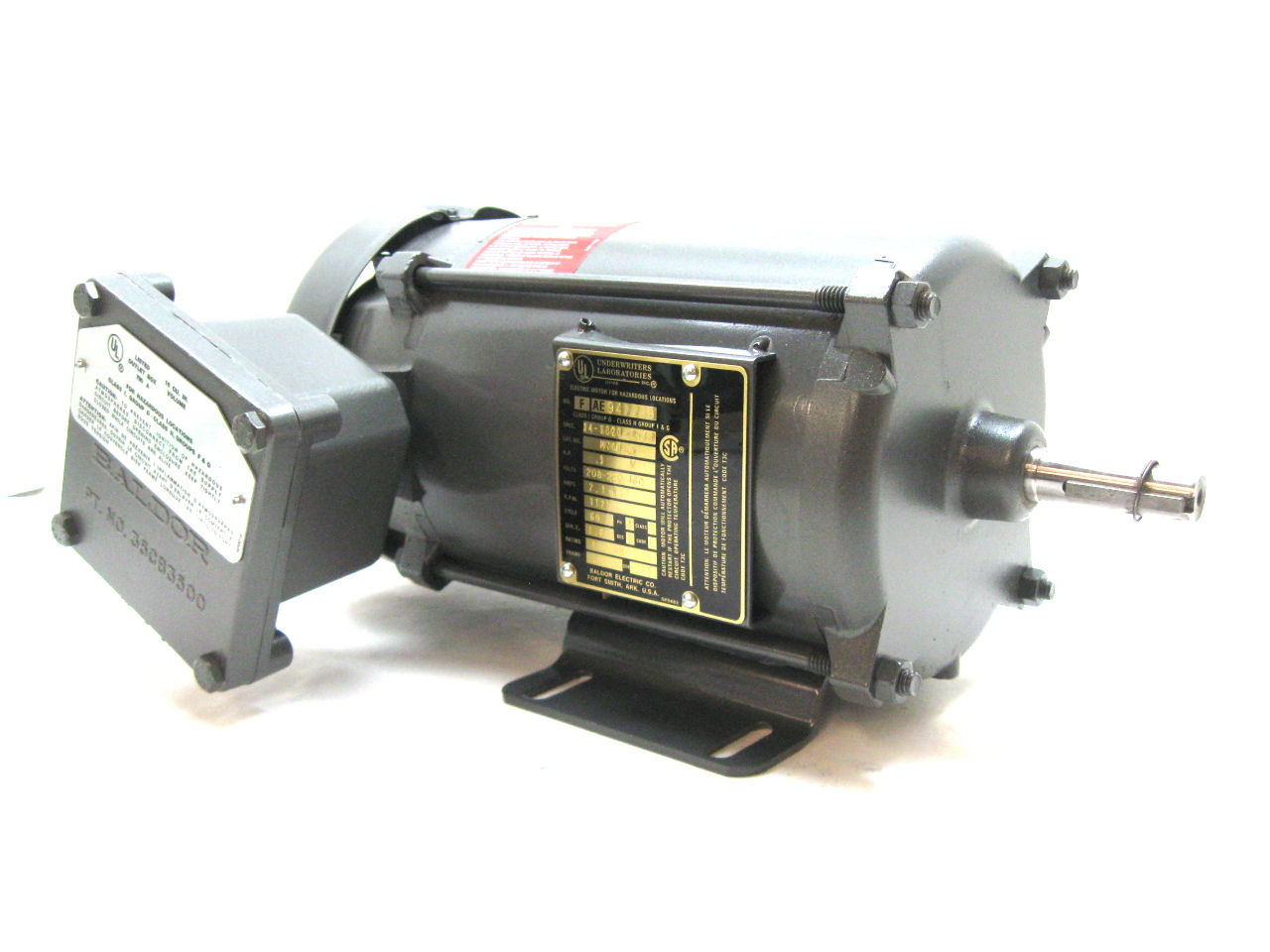 Baldor M7006a Motor 5 Hp 208 230 460 V 1725 Rpm 3 Phase