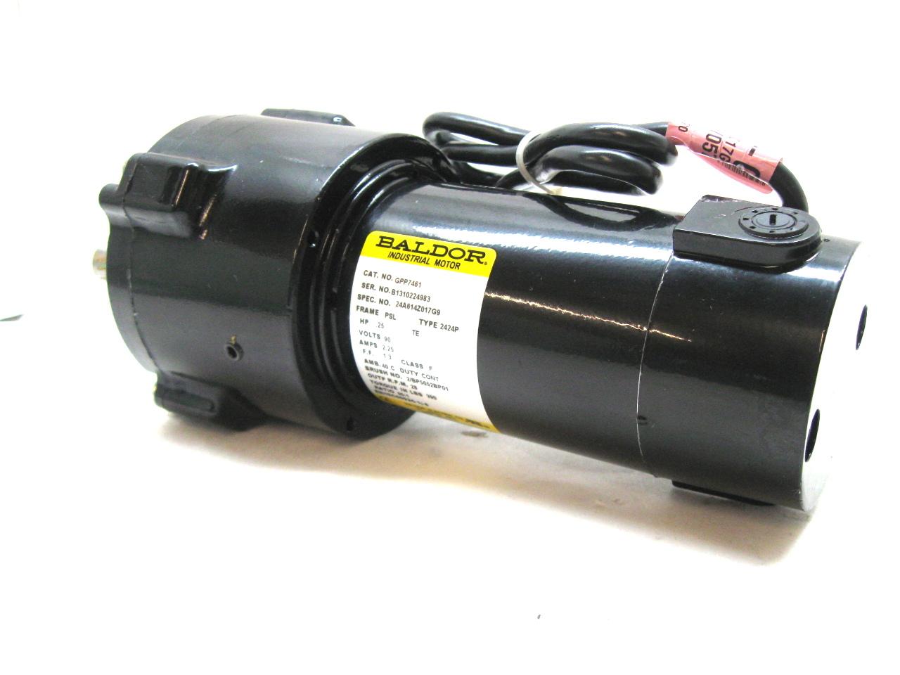 Baldor gpp7461 gear motor 25 hp 2 25 amps 90vdc 28 rpm 90 for 2 hp motor current