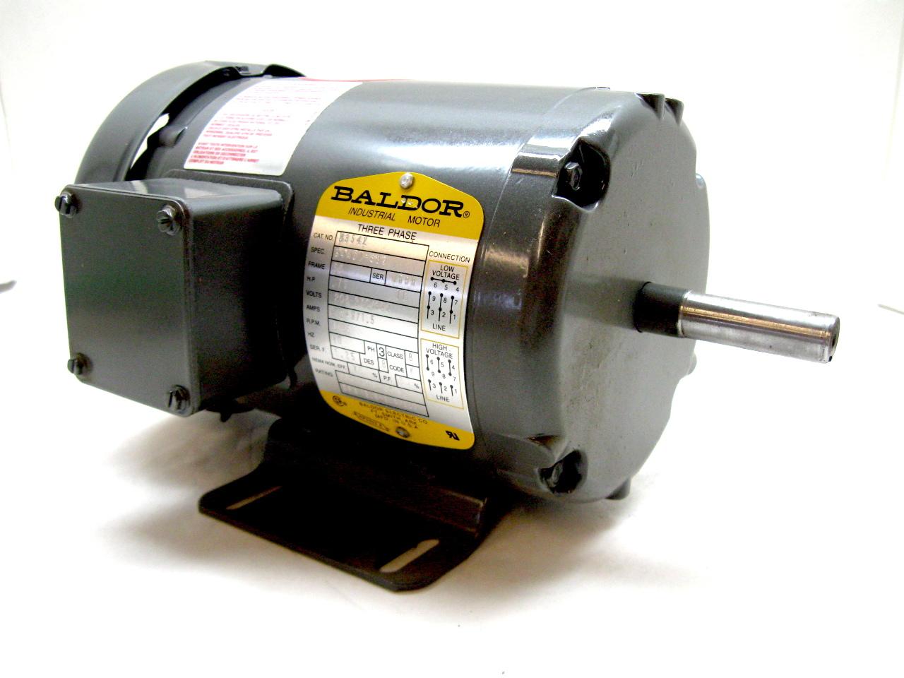 Baldor M3542 Three Phase Enclosed Motor 75 Hp 1725 Rpm 208 230 460v New Ebay