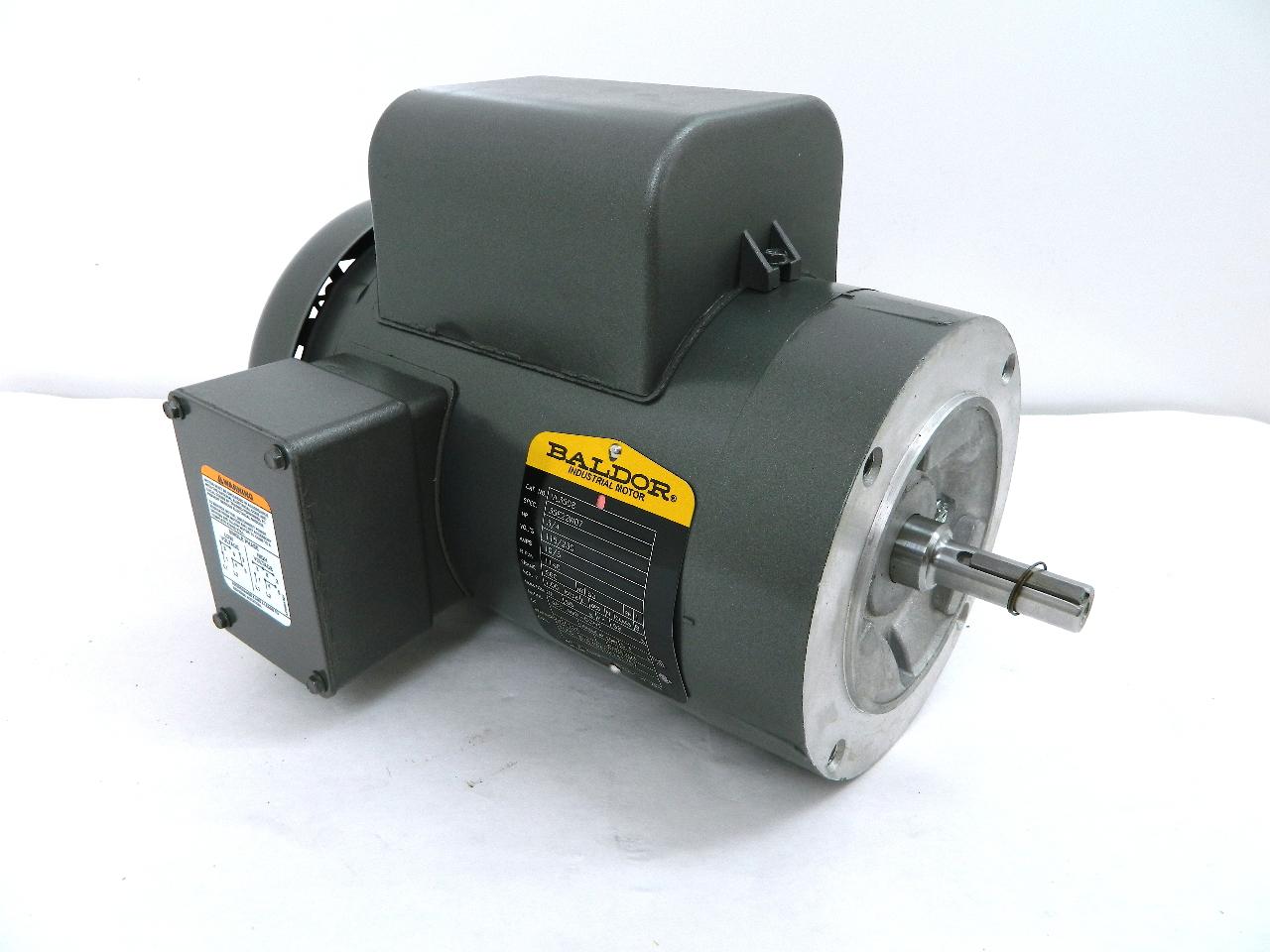 Baldor Vl3508 Electric Motor Hp 56c Frame 1140 Rpm Tefc 115 230vac 1 Ph Ebay