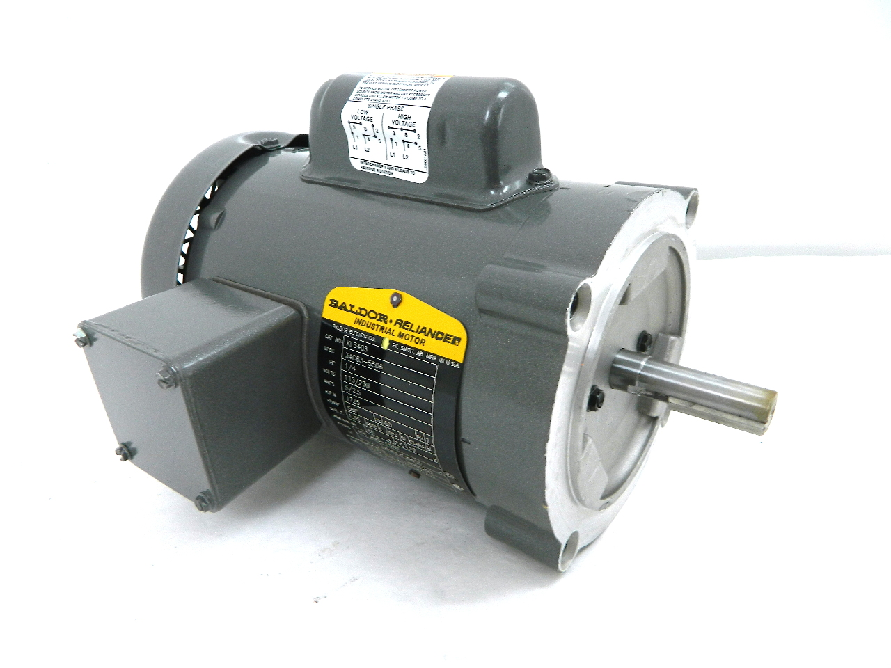 Baldor Kl3403 Electric Motor Hp 56c Frame 1725 Rpm