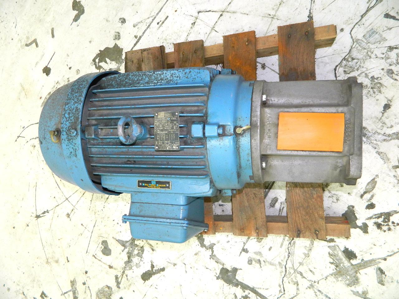 Weg 15 hp electric motor 1765 rpm 208 460vac 3 phase 254tc for Weg severe duty motor