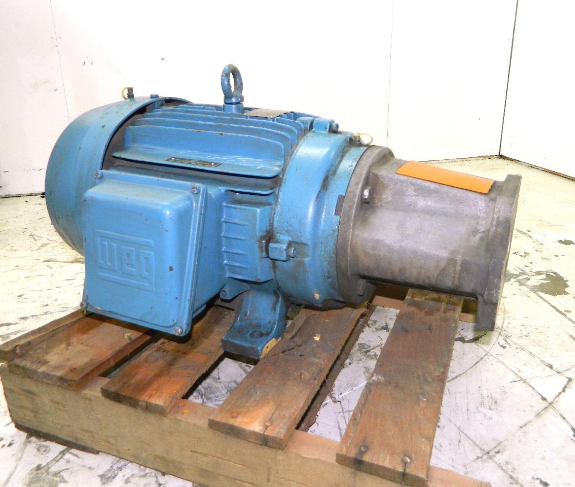 Weg 15 hp electric motor 1765 rpm 208 460vac 3 phase 254tc for 15 hp 3 phase motor