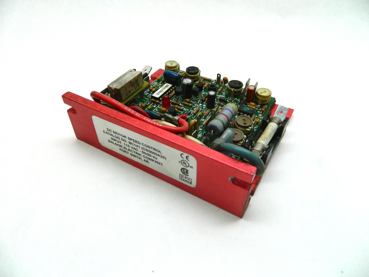 Baldor bc141 dc motor speed control 115vac 1 100 1 5 hp for Baldor 1 5 hp motor