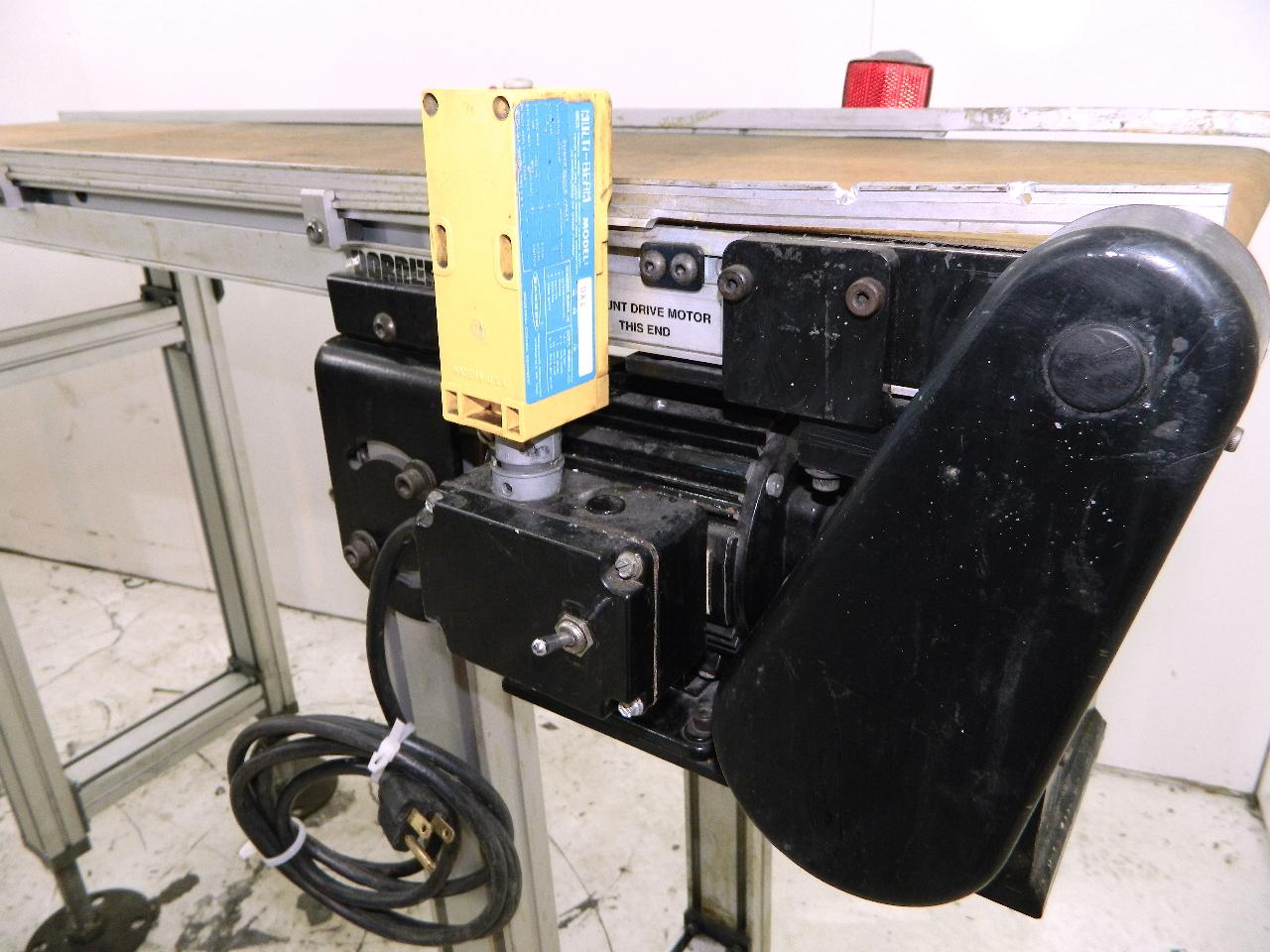 Dorner 2100 series 48 x 12 belt conveyor bodine 115vac Dorner motor