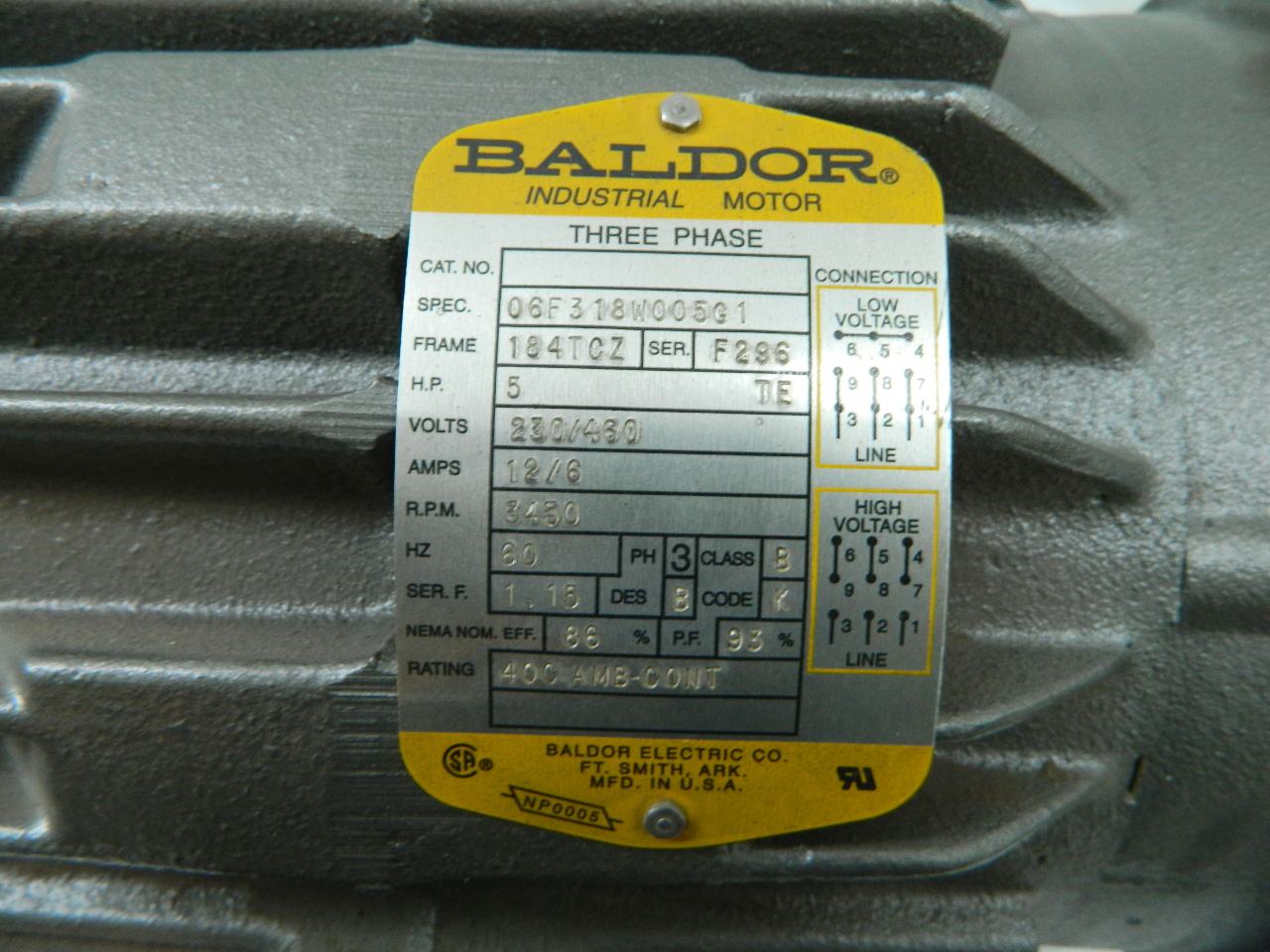 Baldor 5hp Motor Wiring Diagram Capacitor Modern Design Of Single Phase Diagrams Electric Start Run 3450 Rpm 184tcz Frame Te 208