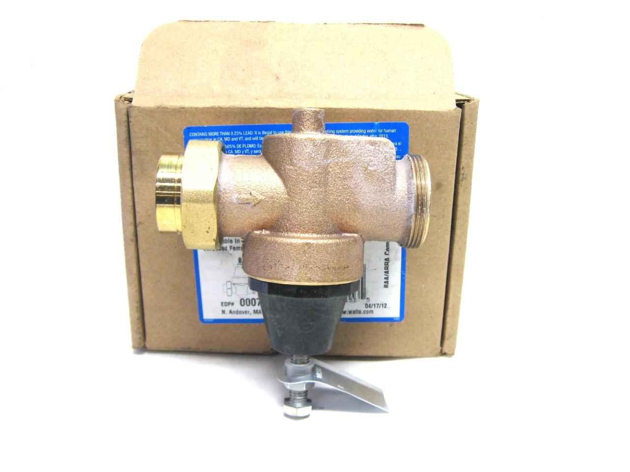watts n45bu m1 water pressure reducing valve 25 75 psi new ebay. Black Bedroom Furniture Sets. Home Design Ideas