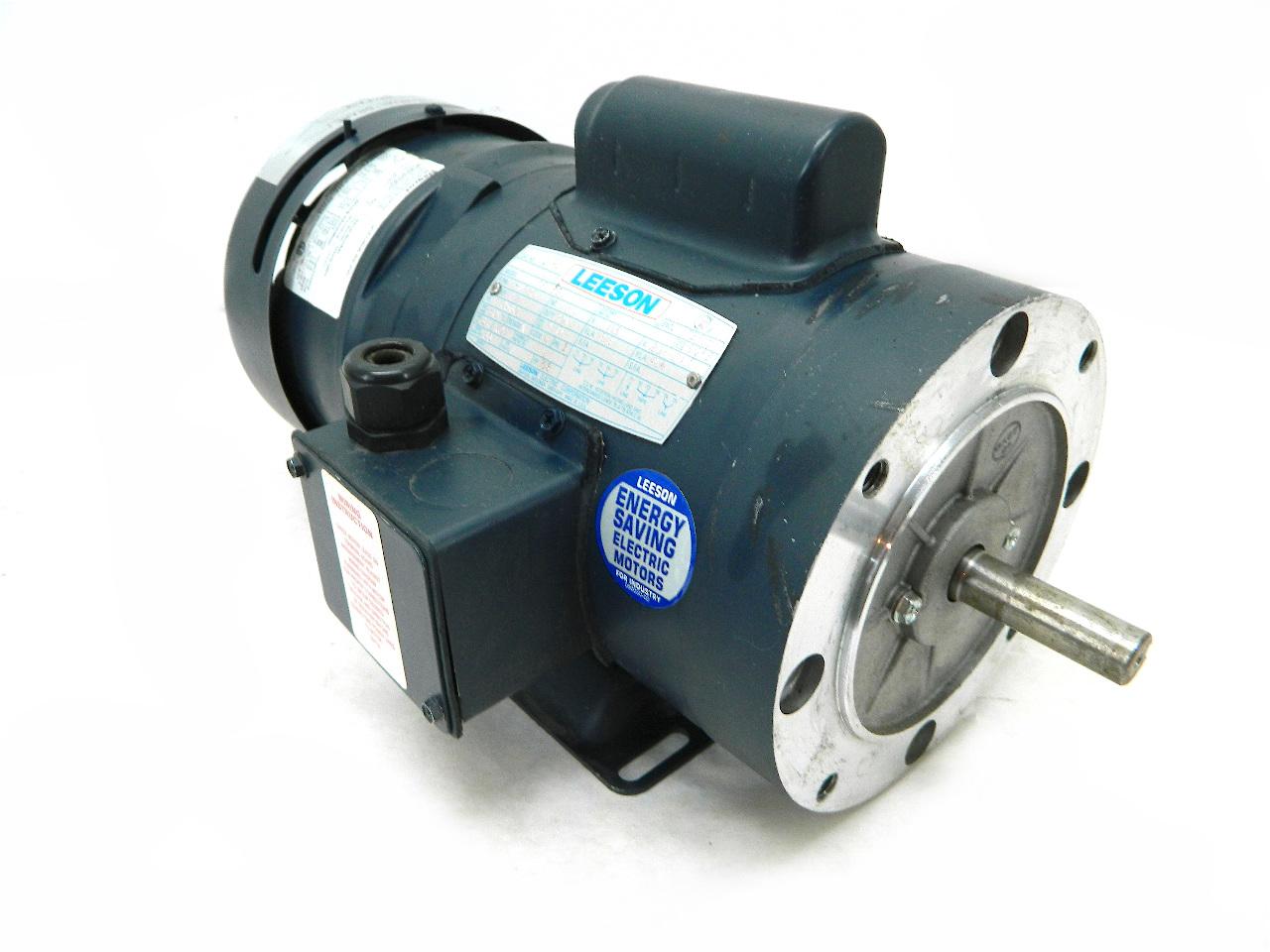 Leeson electric brake motor 0 5 hp 1725 rpm 115 for Electrical braking of dc motor