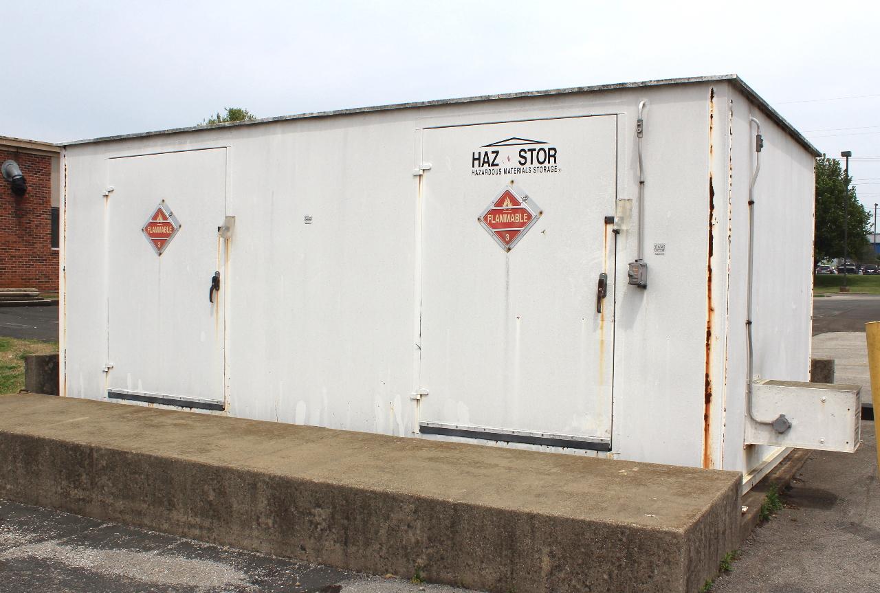 Hazardous Building Material : Hazardous material storage building  sprinkers
