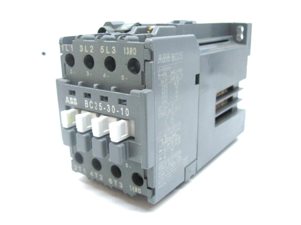 Abb Bc25 30 10 Contactor Motor Starter 24 Vdc Coil 45 Amp