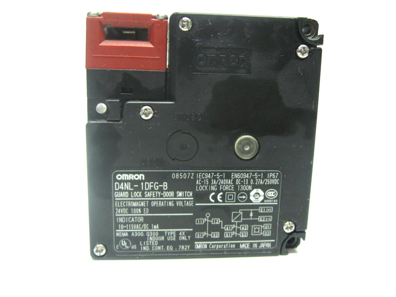 Door Switch Safety : Omron d nl dfg b guard lock safety door switch vdc ebay