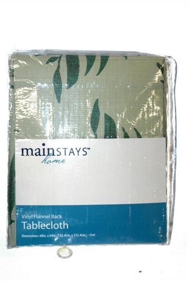 Mainstays Home Vinyl Flannel Back Tablecloth.