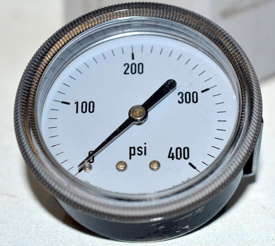 "Panel Mount U Clamp Pressure Gauge, 2 1/2"", PSI 0-400, NPT ..."