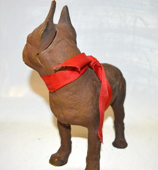 Vintage Cast Iron Boston Terrier Bull Dog Door Stop Surplus
