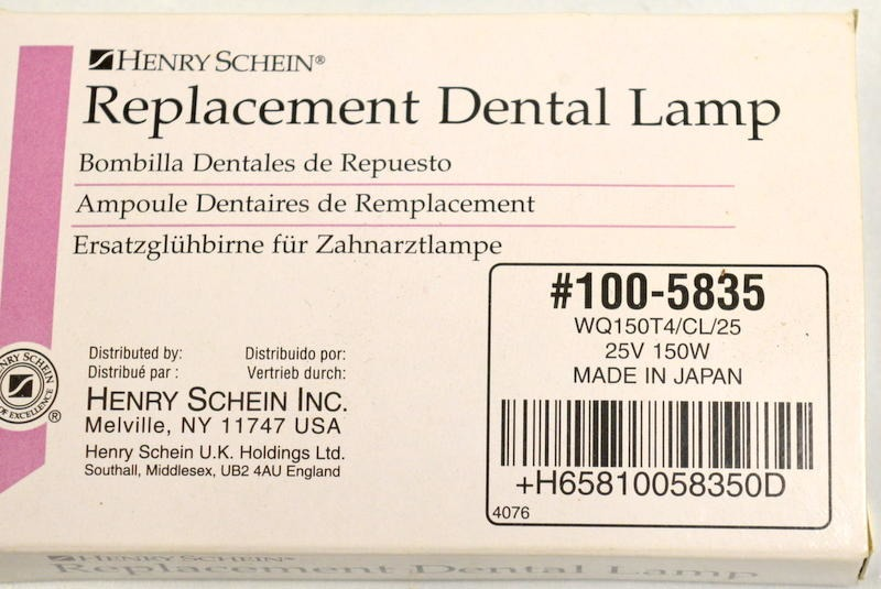 Henry Schein Replacement Dental Lamp 100 5835 Wq150t4 Cl