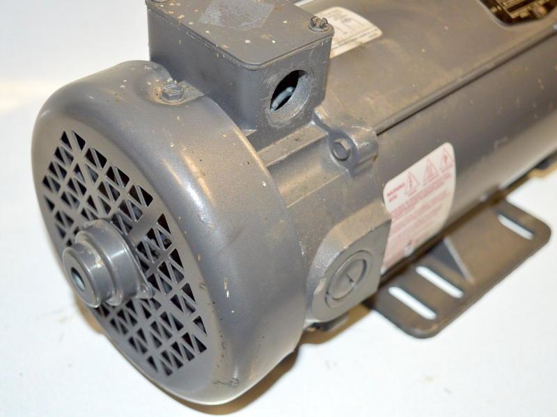 Baldor 1 hp 1750 rpm 56c frame tefc 180vdc motor with for Mcd motors mobile al