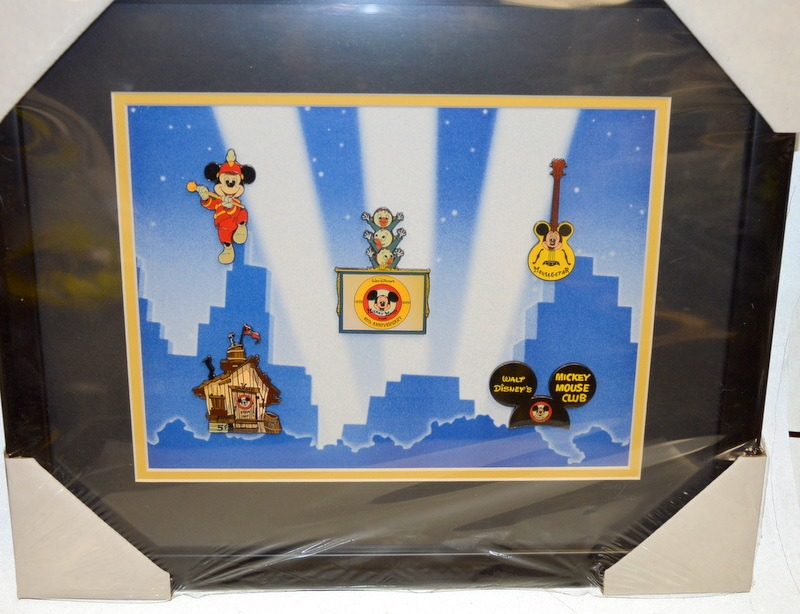 Disney\'s Mickey Mouse Club Framed Pin Set. - 5 pins - Limited ...